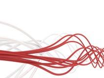 Vezeloptische kabels Stock Afbeelding