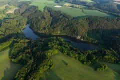 Vezicky lake, aerial shot Stock Image