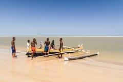 Vezo fishermen Stock Images