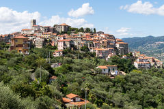 Vezzano Ligure, picturesque hilltop village, Liguria, Italy. Royalty Free Stock Photos