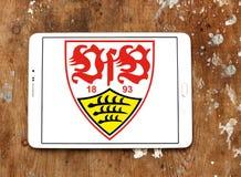 VfB Stuttgart soccer club logo. Logo of german VfB Stuttgart soccer club on samsung tablet Royalty Free Stock Images