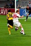 VFb Stuttgart versus FC Timisoara Stock Foto