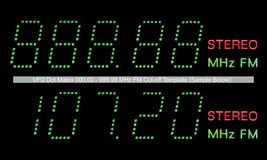 VFD Dot Matrix FM Radio Display Macro In Green Royalty Free Stock Photo