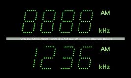VFD Dot Matrix AM Radio Display Macro In Green Stock Photos