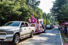 VFW-Floss im Viertel von Juli-Parade Stockbild