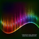 Våg för neonvektorutjämnare Arkivfoton