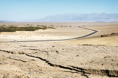 Väg på Death Valley Arkivfoto