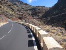 Väg på Tenerife Fotografering för Bildbyråer