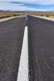 Väg till oändligheten i nationalparken för los Cardones, Argentina Royaltyfri Bild