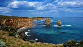 väg tolv för apostelAustralien stor hav Arkivbild