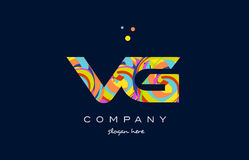 vg v g colorful alphabet letter logo icon template vector royalty free illustration