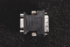 VGA к переходнику DVI для старых мониторов Стоковое Фото