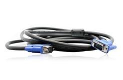 VGA缆绳 免版税库存图片