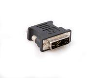 VGA aan DVI-vertoningsconvertor Stock Afbeeldingen
