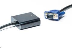 VGA al convertitore di HDVI Fotografie Stock Libere da Diritti