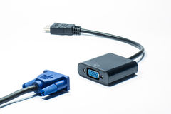 VGA al convertitore di HDVI Fotografia Stock