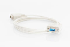 VGA cables connector with white cord Stock Images