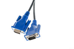 Vga cables over white isolated background. With no logo trademark Stock Image