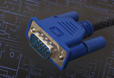 VGA connector Royalty Free Stock Images