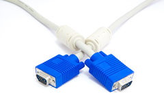 Vga connector with plug isolated Stock Photos