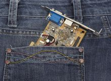 Vga in jeans pocket Royalty Free Stock Image