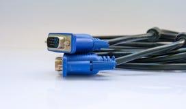 VGA-kabels royalty-vrije stock afbeeldingen