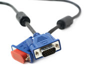 VGA male cable connector isolated Stock Photography