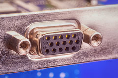 VGA port connector extreme close-up Stock Photo