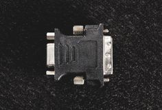 VGA zu DVI-Adapter für alte Monitoren Stockfoto