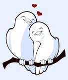 Vögel in der Liebe Lizenzfreies Stockbild