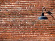 vägg för bild för bakgrundstegelstenlampa Arkivbilder