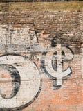 vägg för tegelstengrungered Royaltyfria Bilder