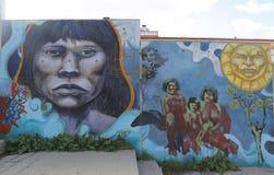 Vägg- konst i Ushuaia, Argentina Arkivbild