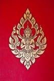 Vägg- målning på väggen i templele Royaltyfri Fotografi