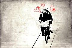 Vägg- rolig vägg för konstdesignidé Royaltyfria Foton