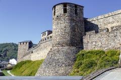 Väggar och försvartorn i Ponferrada Spanien Royaltyfria Foton