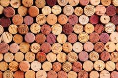 Väggen av Wine korkar Royaltyfria Bilder