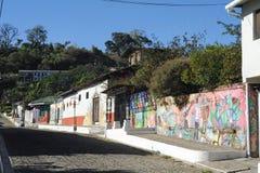 Väggmålning på ett hus på Ataco i El Salvador Royaltyfria Bilder