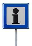 Vägmärke som indikerar en informationspunkt Royaltyfri Bild