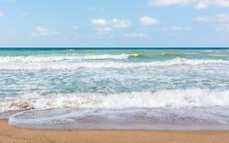 Vågor av Blacket Sea Arkivbild