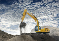 Véhicule de construction Photos libres de droits
