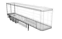 Véhicule de livraison de cargaison Image stock