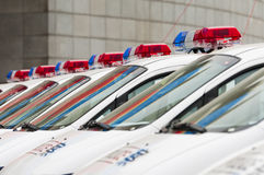 Véhicule de police Image stock