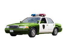 Véhicule de police vert Photo libre de droits