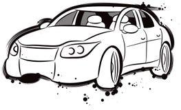 Dessin simple d 39 un croquis automatique automobile de sports modernes illustration de vecteur - Dessin voiture stylisee ...
