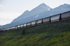 Véhicules de trémie de chemin de fer Image stock