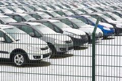 véhicules stockés Image libre de droits