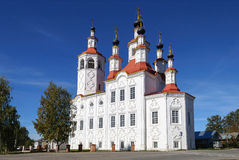Vhodoierusalimskaya教会在Totma 免版税库存照片