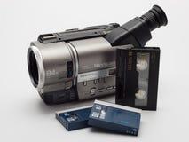 VHS卡式磁带的摄象机 免版税库存照片