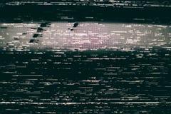 VHS静态屏幕背景 免版税库存照片